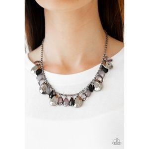 Hurricane Season Black Teardrop Necklace Set